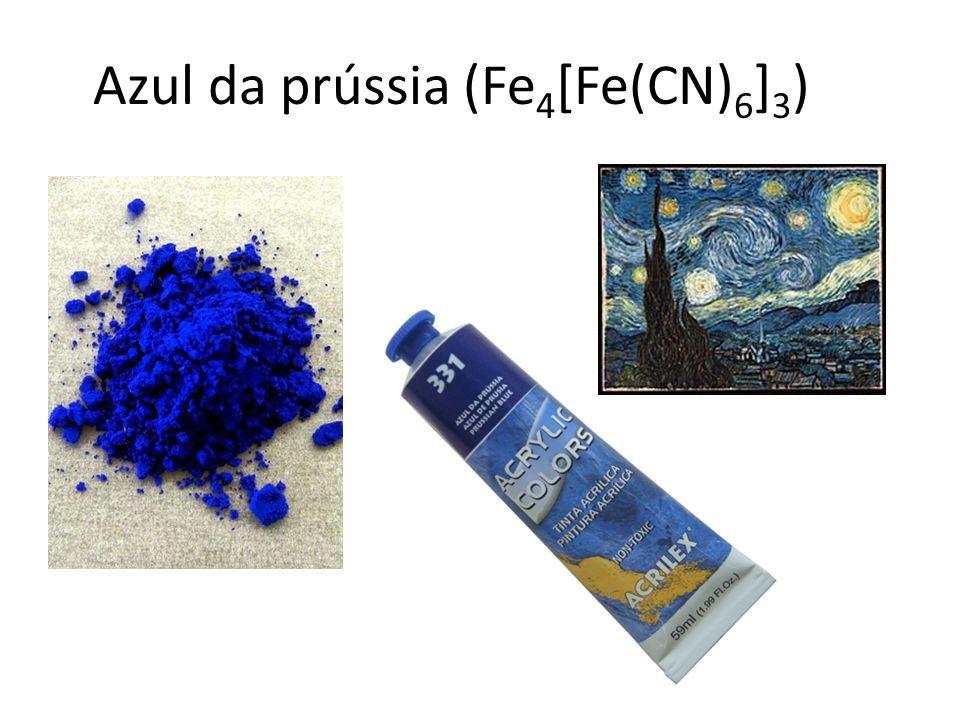 Azul da prússia (Fe4[Fe(CN)6]3)